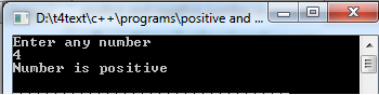 positive, negative number in c++