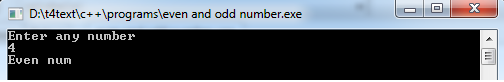 program to find the even odd number