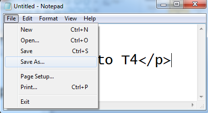saving the file in html
