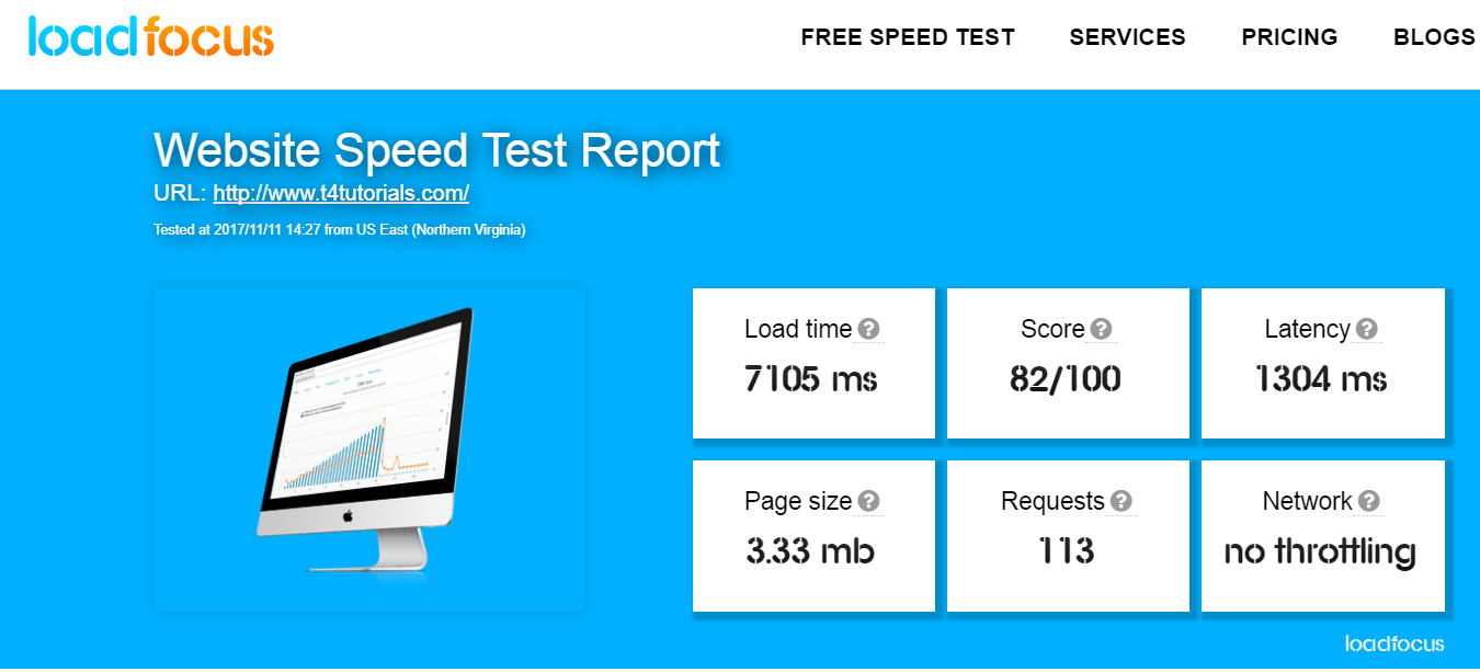 website speed measure