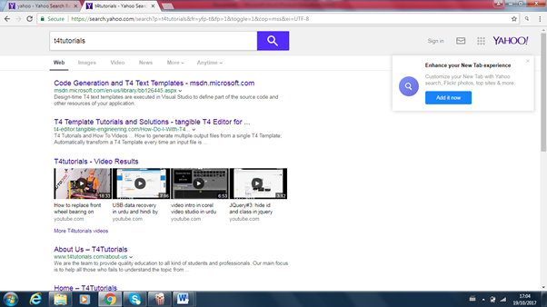 yahoo search engine to submit a website for SEO